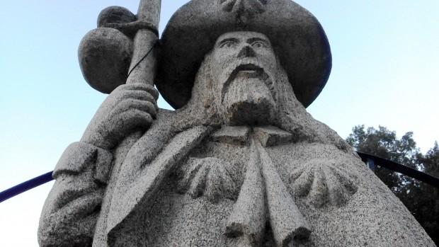 Brizzi_8_3_Statua di Santiago alla base della salita che porta a O Cebreiro