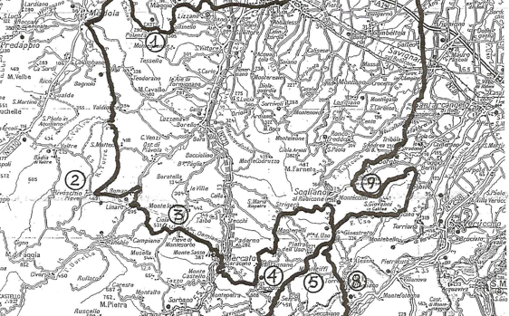 9 Colli running mappa