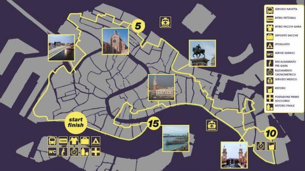 Venice night trail 2019 mappa