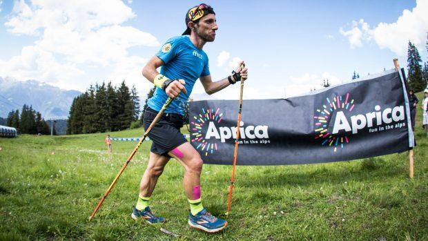Luca Manfredi Negri durante il percorso - foto Maurizio Torri