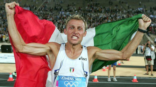 Stefano Baldini, vincitore dell'oro olimpico nella maratona ad Atene 2004