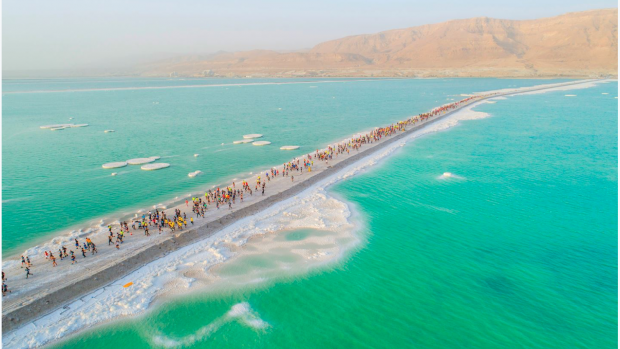 Israele gare corsa dead sea marathon