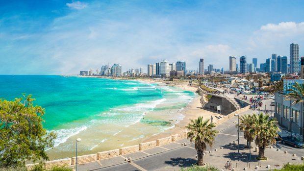 Panoramic view of  Tel Aviv, Israel