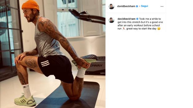 David Beckham calciatore inglese come si allena corsa fitness