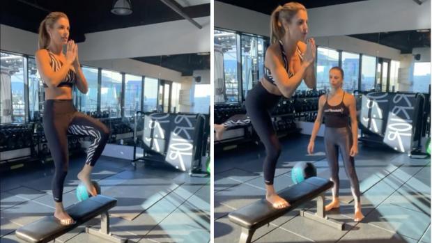 Elisabetta Canalis routine fitness e ALLENAMENTO